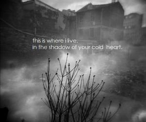 black and white, broken heart, and text image
