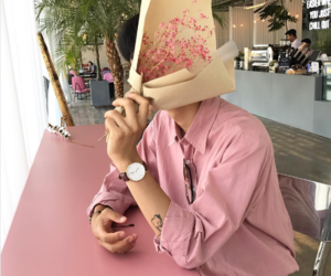 pink, aesthetic, and boy image