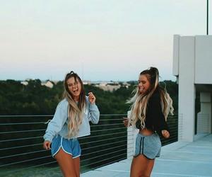girl, beautiful, and twins image