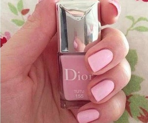 nails, dior, and pink image
