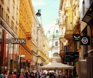city, summer, and shopping image