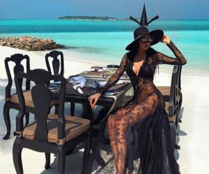 beach, beauty, and fashion image