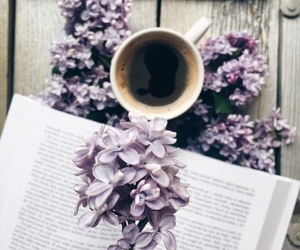 book, bookworm, and coffee image