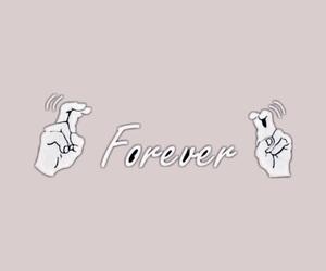 finger, forever, and girl image