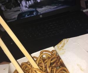 alone, chopsticks, and crying image