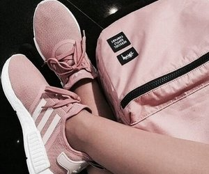 sneakers, pink, and shoes image