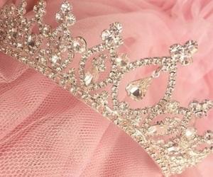 crown, diamond, and pink image
