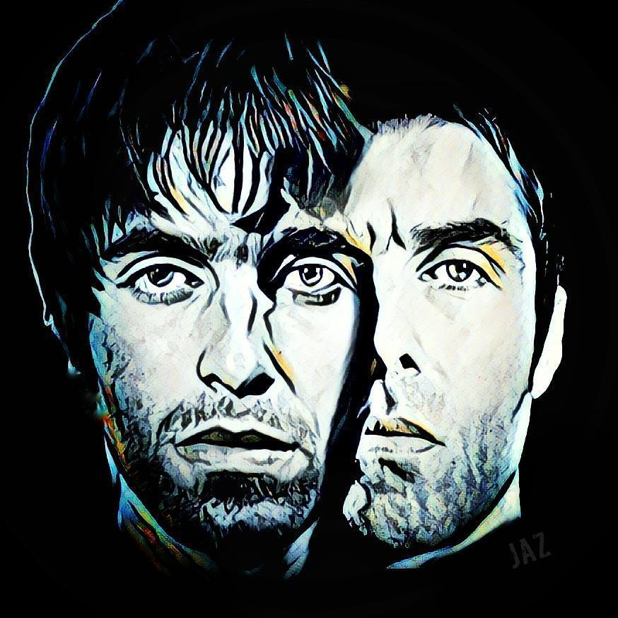 art, liam gallagher, and oasis image