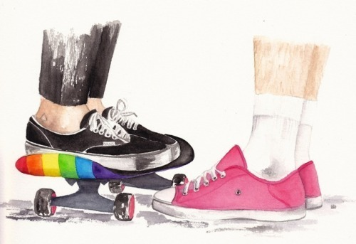 rainbow, larry stylinson, and Harry Styles image
