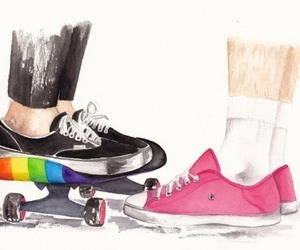 rainbow, tumblr, and one direction image