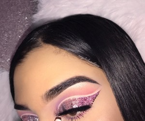 makeup, glitter, and fashion image