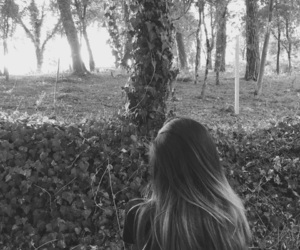 blackandwhite, forest, and goth image