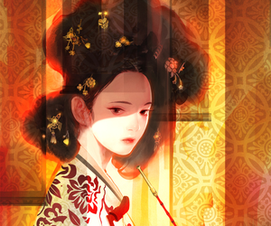 fashion, women, and korean art image