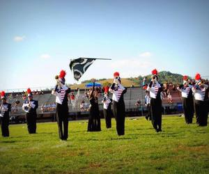 flag, guard, and marching band image