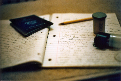 film, notebook, and vintage image