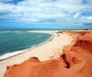 orange, blue, and beach image