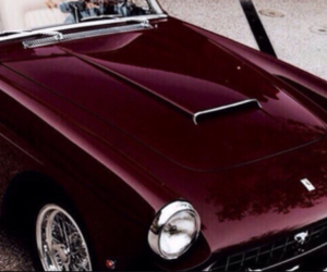 burgundy, car, and red image