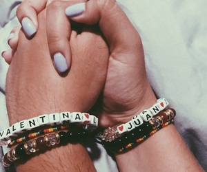bracelets, couple, and goals image