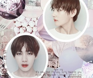 jin, v, and kpop image