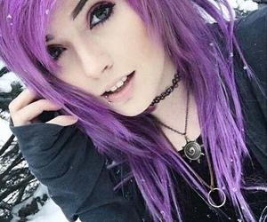 emo, purple, and girl image