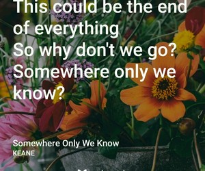 keane, somewhere only we know, and music image