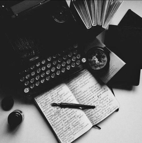 book, vintage, and black image