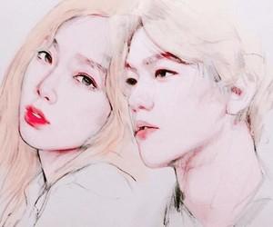 couple, exo, and fanart image