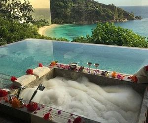 bath, view, and luxury image