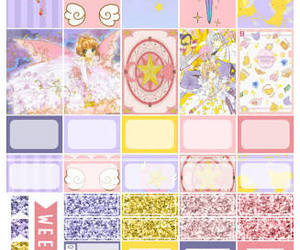 planner, sakura, and stickers image