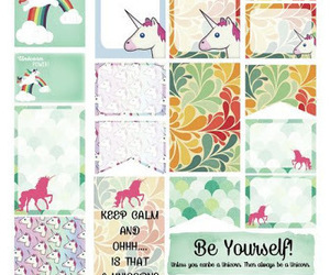 stickers, unicorn, and planner image