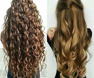 beauty, brown hair, and curly hair image