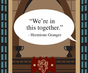 hermione, potter, and quotes image