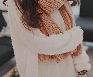 cute, hair, and scarf image