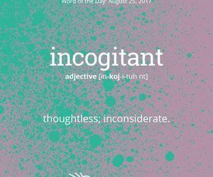 english, words, and incogitant image