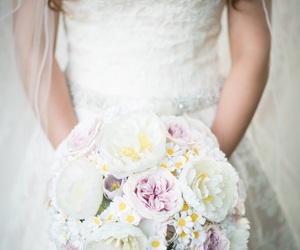 bouquet, bridal, and bride image