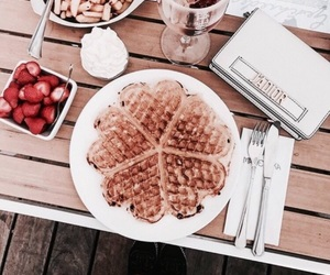 food, waffles, and summer image
