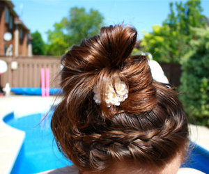 hair, summer, and braid image