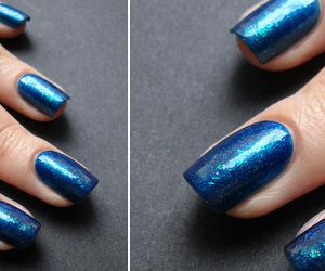 blue and nail polish image