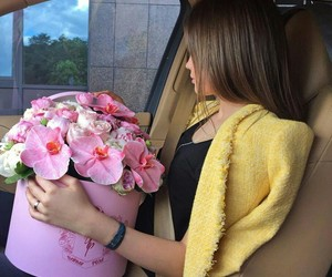 car, fashion, and flower image