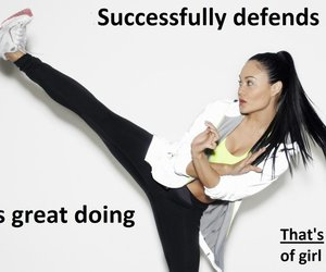 fighting, woman, and self-defense image