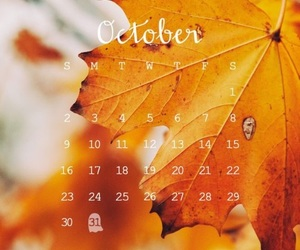 autumn, october, and calendar image