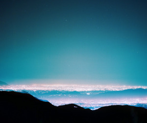 blue, lights, and sky image
