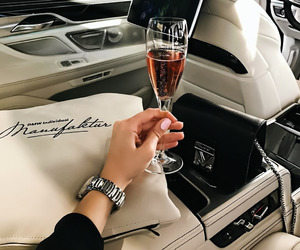 champagne, car, and luxury image