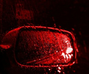 red, car, and rain image