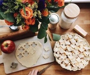 autumn, food, and apple image
