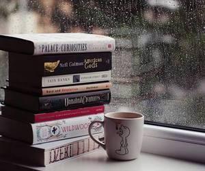 book and rain image