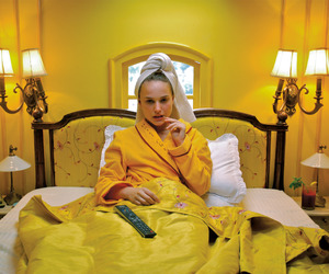 yellow, natalie portman, and wes anderson image