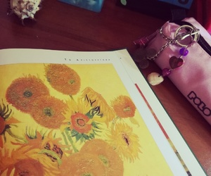 art, candles, and painting image