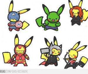 pikachu, Avengers, and pokemon image