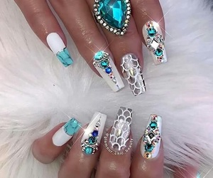 nails, beauty, and gems image